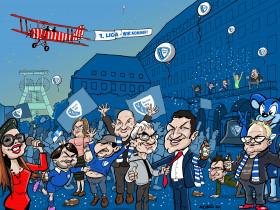 Karikatur Aufstieg VfL Bochum, Kunstdruck