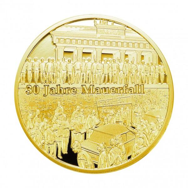 Sonderprägung 30 Jahre Mauerfall - gold