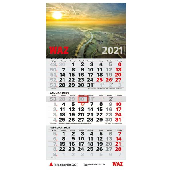 Dreimonatskalender WAZ 2021