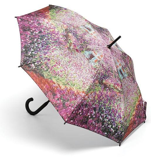 "Claude Monet: Stockschirm ""Irisbeet in Monets Garten"""