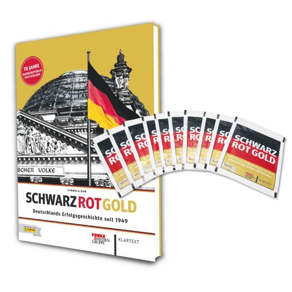 Panini Schwarz Rot Gold - Hardcover + 10 Stickertüten
