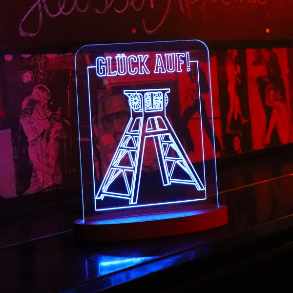 "LED-Lampe ""Glück Auf 2 (Zechenturm)"" inkl. Sockel"