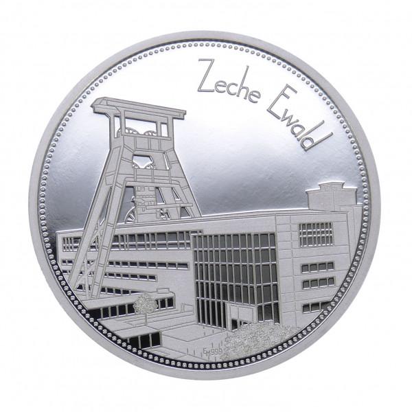 """Sammeledition """"Zechen im Ruhrgebiet"""" - 6. Motiv """"Zeche Ewald"""" - Silber"""