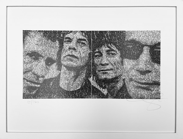 Wortmalerei Rolling Stones