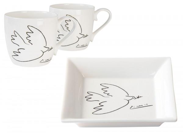 Pablo Picasso: Porzellan-Set Friedenstaube