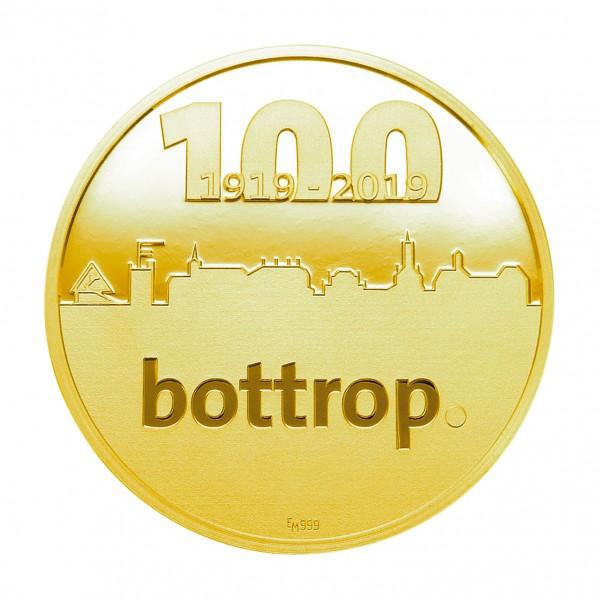 Sonderprägung 100 Jahre Bottrop - gold