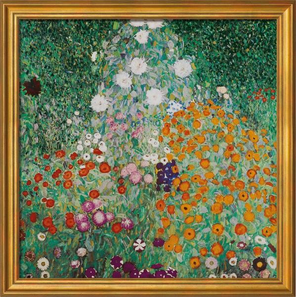 """Gustav Klimt: Bild """"Blumengarten"""", gerahmt"""