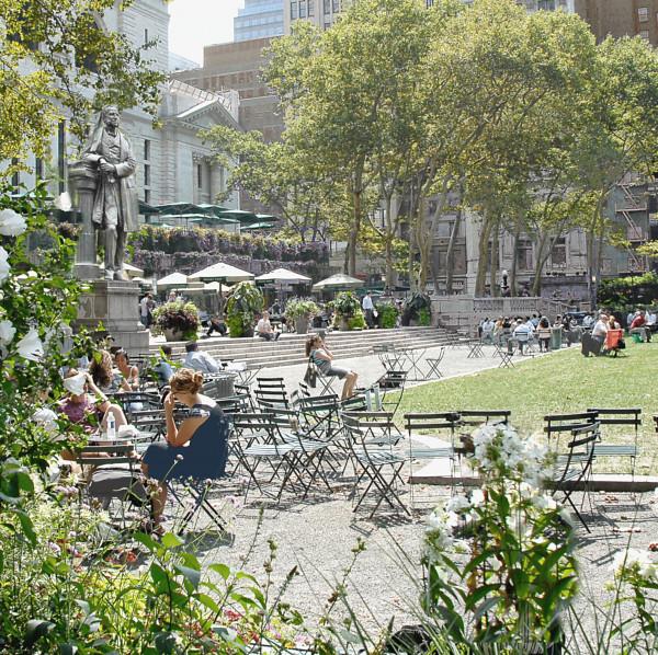 New York - Bryant Park im Sommer