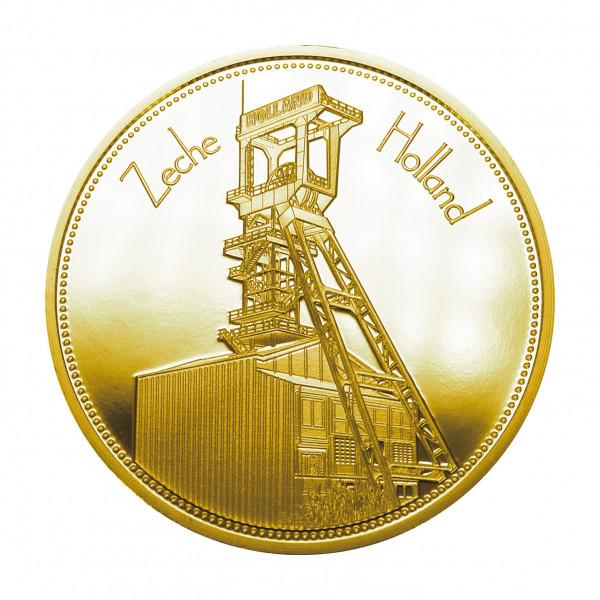 """Sammeledition """"Zechen im Ruhrgebiet"""" - 4. Motiv """"Zeche Holland"""" - Gold"""