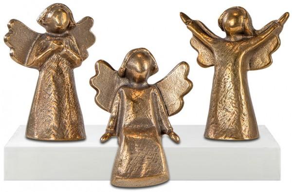 """Kerstin Stark: 3-teiliges Miniatur-Skulpturenset """"Bronzeengel"""""""