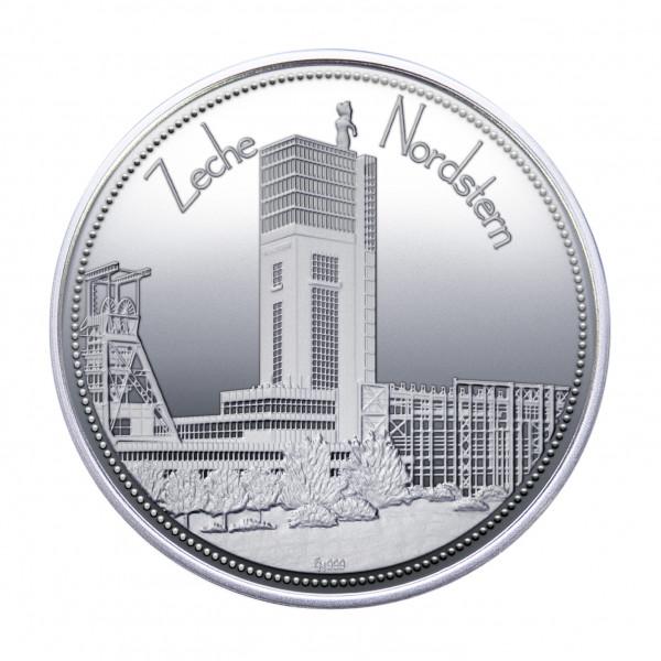 """Sammeledition """"Zechen im Ruhrgebiet"""" - 3. Motiv Zeche Nordstern - Silber"""