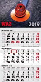 Dreimonatskalender WAZ 2019
