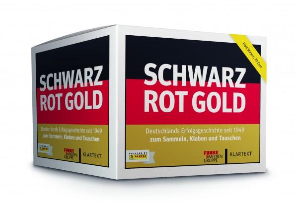 Panini Schwarz-Rot-Gold Stickerbox