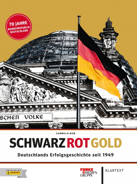 Panini Schwarz-Rot-Gold Hardcover-Album + Stickerbox