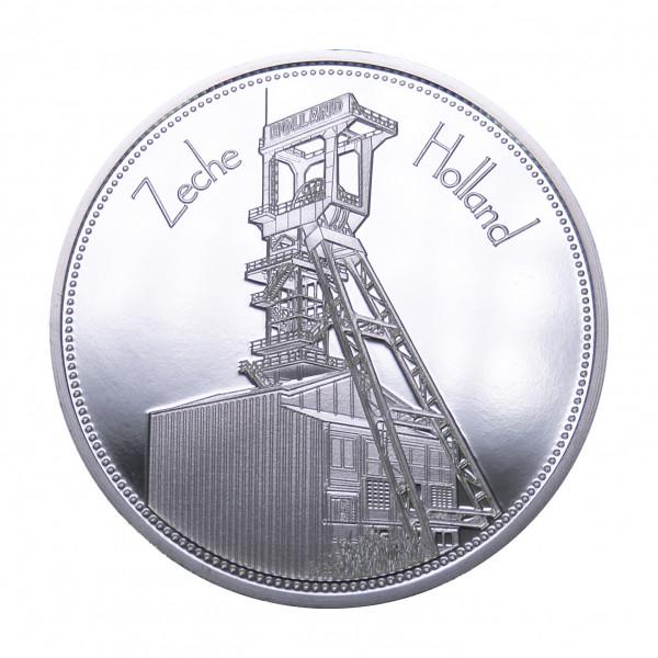 """Sammeledition """"Zechen im Ruhrgebiet"""" - 4. Motiv Zeche Holland - Silber"""