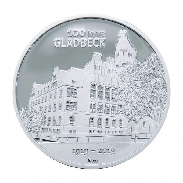 Sonderprägung 100 Jahre Gladbeck - silber