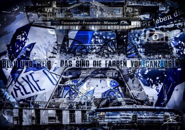 Gelsenkirchen Collage - Wandbild Alu-Dibond