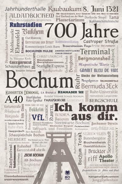 Bochum Schriftbild Poster
